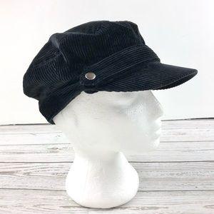 Gap black corduroy pageboy cap